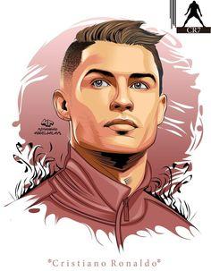 Christano Ronaldo, Ronaldo Football, Cristiano Ronaldo Juventus, Football Art, Juventus Fc, Football Player Drawing, Soccer Drawing, Cr7 Wallpapers, Portrait Vector