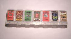 Pill box spices. Genius.