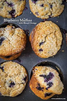 Blueberry Muffins Recipe with Blood Oranges. Photo and Recipe by Irvin Lin of Eat the Love.