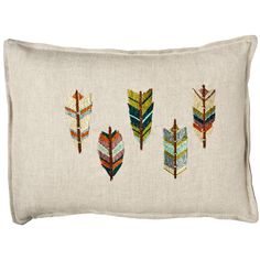 Coral and Tusk - wingtips pillow