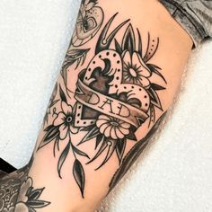 flower dad tattoo