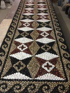 Pebble Mosaic on net