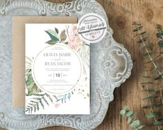 Greenery Wedding Inv