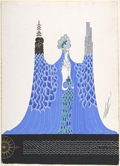 "Costume design by Erté for ""Océan Pacifique,"" George White's Scandals, New York, 1928."