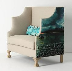 This chair from Anthropologie is so interesting and unique. love it