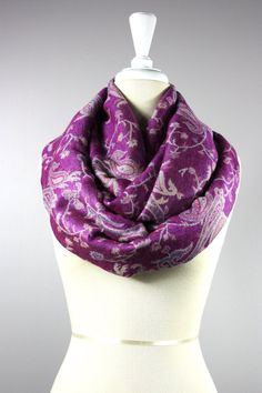 Radiant Orchid scarf  infinity orchid scarf  by NursingTime