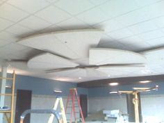 Tectum - Cloud Panels. Floating system, custom shapes Photo: Grand River Medical Center, Rifle, CO