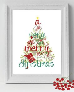 A Very Merry Christmas Tree Christmas printable by PrintableStyles