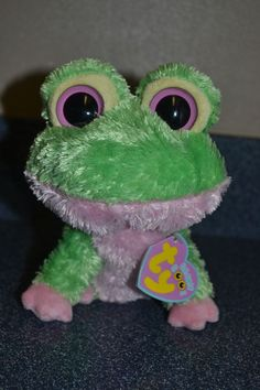 "Ty Beanie Boos KIWI 6"" Frog New With Tags 2009 #GL2 #TYBeanieBoos"