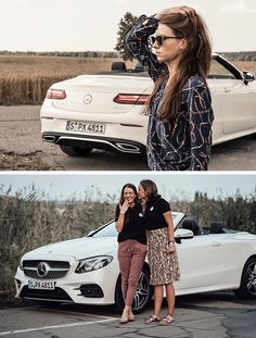 [Kraftstoffverbrauch kombiniert: 8,9–8,7l/100 km | CO₂-Emissionen kombiniert: 202–198 g/km | mb4.me/DAT-Leitfaden | Mercedes-Benz E 450 4MATIC Cabriolet]  The E-Class cabriolet offers a sporty and luxurious driving experience. Why not bring some friends along and enjoy it together?  📷 Anna Holt