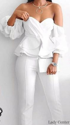 97 + The most beautiful trent fashion designs together – Sayfa 16 – Fashion & Beauty White Outfits, Dress Outfits, Fashion Dresses, Classy Suits, Classy Dress, Party Outfits For Women, Vetement Fashion, Looks Chic, Elegant Outfit