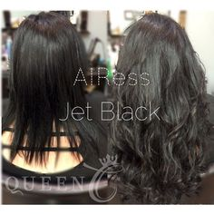 www.QueenCHair.com  Katie has very thin/fine hair and only wanted a little length and natural-looking volume. We would say she met her hair goals thanks to our AIRess clip-in extensions!!!  What do you think? #AIRess #jetblack #RoyalFamily