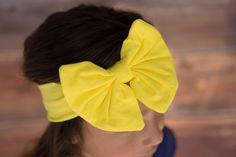 Trendy Bow Headband-Sunshine