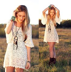 Sunset in the countryside (by Shea Marie) http://lookbook.nu/look/1593500-sunset-in-the-countryside