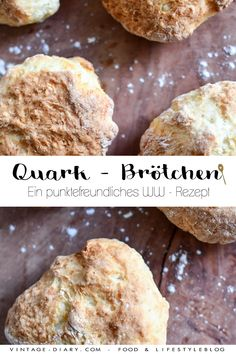Quark - rolls for breakfast (WW) - vintage-diary-Quark – Brötchen zum Frühstück (WW) – vintage-diary Quark – rolls for breakfast (WW) – a Weight Watchers recipe, point-friendly, quick and delicious. Petit Déjeuner Weight Watcher, Plats Weight Watchers, Weight Watchers Breakfast, Weight Watchers Meals, Vegan Breakfast Recipes, Brunch Recipes, Breakfast Ideas, Ww Recipes, Healthy Recipes