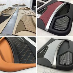 custom door panels mobile solutions orange grey black interior #BecauseSS tan brown diamond stitch burgundy grills peanut butter