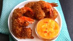 Arielle Haspel shows you how to make her favorite bar food gone healthy, Coconut Crusted Shrimp with a Mango-Chili dipping sauce.