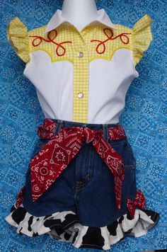 DELUXE Jessie inspired skirt outfit. Toy Story. by BrandMeQT Western Wear OOC