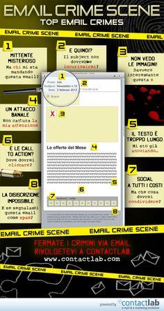 """#Email #Marketing: 8 """"crimini"""" da non commettere!! :D #infographic"""
