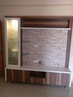 Lcd Unit Design, Lcd Wall Design, Modern Tv Unit Designs, Modern Tv Wall Units, Living Room Tv Unit Designs, Tv Unit Furniture Design, Tv Unit Interior Design, Interior Work, Small Tv Unit