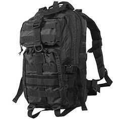 """Rebel Tactical Assault Backpack 18"""" Compact Stealth Military Molle Daypack Hunting Camping Outdoor Hiking Paintball Airsoft Bag Black - http://hikingbackpack.hzhtlawyer.com/rebel-tactical-assault-backpack-18-compact-stealth-military-molle-daypack-hunting-camping-outdoor-hiking-paintball-airsoft-bag-black/"""