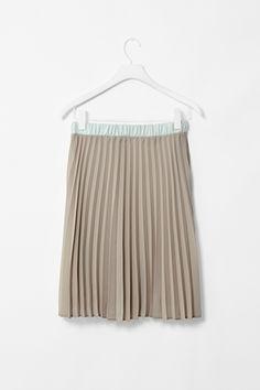 COS Colour-block pleat skirt