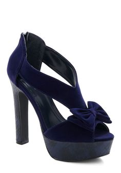 Industry Party Heel - Blue, Solid, Bows, Fall, Winter