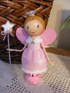 Beautiful+Clothespin+Fairy+Princess+Ms.+Cloe+by+LoriaDesigns,+$20.00