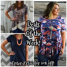 Here are some new deals of the week!!  Grab 'em before they're gone! #ilovezigzag #thezigzagstripe #zzs #zzsteachers #zigzagstripe   Enter ZZS16 for 10% off!  Plus shipping is free and there's no tax (except in TX)! www.zigzagstripe.com