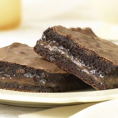 Chocolate Caramel Brownies | Ghirardelli #dessert