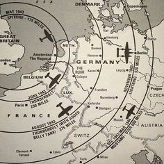 "The attacks on Pearl Harbor on December 7th pulled the US into WWII. Read below about this map of the European campaign. A map of the distance WWII fighters could fly from the UK to mainland Europe. ➖ Comment by reddit.com user /u/GTFErinyes: ➖ ""I love this map. It really illustrates the point about military aviation past vs. present and how ""crude"" flying was during WW2, in a lot of ways, and why it was such a dangerous job. Bomber crews knew they couldn't get very far into Germany without…"