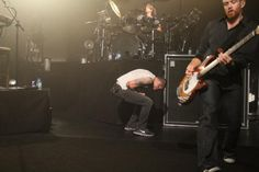 Linkin Park - I love it when Chester Bennington does this jump across the stage in concert