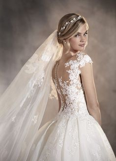 2017 New Arrival Pronovias ADELA Mermaid Illusion Sweetheart Neckline Wedding Dr . 2017 New Arrival Pronovias ADELA Mermaid Illusion Sweetheart Neckline Wedding Dress with OverskirtTrumpet / Mermaid Scoop Neck Court Train Stretch Cre. Most Beautiful Wedding Dresses, Best Wedding Dresses, Perfect Wedding Dress, Bridal Dresses, Wedding Gowns, Lace Wedding, Wedding Venues, Wedding Beauty, Wedding Makeup