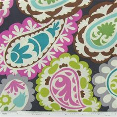 Paisley print I'm sewing Rowan's bedding out of :)