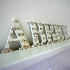 Name Plaque For Wall Or Door 9cm 5 Letters