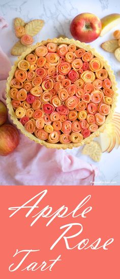Apple Rose Tart - What's better than giving roses to mom? How about edible roses? Make this super easy apple rose tart for an unforgetable Mother's Day Brunch. #mothersday #brunch #apple #recipes #desserts #tarts #pies