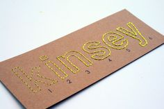 How to stitch by Kinsey Wilson!