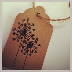 Dandelion gift tags... www.etsy.com/shop/blairbaileyCPD #personalized #stationary #notecards #drawing #freehand