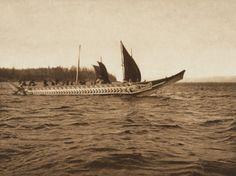 Crossing the Strait [Kwakiutl] (The North American Indian, v. X. Norwood, MA: The Plimpton Press, 1915)