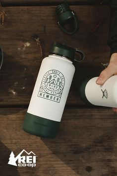 Toast outdoor partnerships with the Hydro Flask wide mouth bottle with straw lid and boot. This unique bottle is only available to REI Co-op members for a limited time.