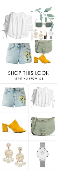 """""""street style #69: menta"""" by veronicagnzlz on Polyvore featuring moda, Gucci, Caroline Constas, Maryam Nassir Zadeh, Little Liffner, Humble Chic, Daniel Wellington y Burberry"""