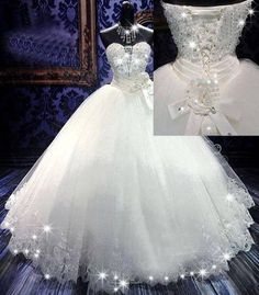Click–>–> http://www.dresswe.com/item/10522276.html How many likes for this Awesome Ball Gown Sweetheart Beading Floor-length Wedding Dress ?