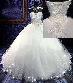 Dream Dress for a candlelight wedding! Princess Wedding Dresses, Dream Wedding Dresses, Bridal Dresses, Cinderella Wedding, Beautiful Wedding Gowns, Wedding Attire, Gown Wedding, Bling Wedding, Wedding Bride
