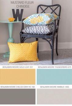 Blue yellow grey nursery