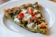 Grilled Sausage and Pesto Pizza