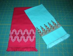2 Vintage Swedish Weaving AKA Huck Weaving by Milkwhite on Etsy, $12.00