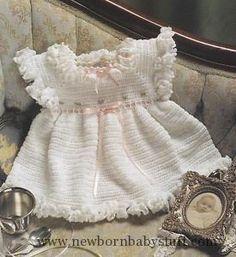 Crochet Baby Dress crochet baby dress pattern | Crochet Pattern Heirloom Baby D...