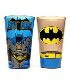 Look at this #zulilyfind! Batman Pint Glass Set #zulilyfinds