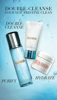 Inspired by Japanese beauty rituals, double-cleansing gently and deeply purifies, resulting in a glowing, pristine complexion. First, detoxify, purify and sweep away makeup with La Mer's NEW Cleansing Micellar Water. Then, double-cleanse with La Mer's Cleansing Foam to condition and refresh. Complete your regimen with the iconic Crème de la Mer for an ultra-rich, dewy finish. Shop the Revitalizing Collection from La Mer. A Pinterest exclusive. http://lamer.co/29mbs4o