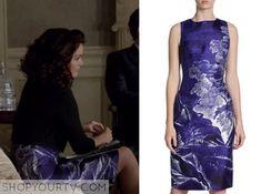Scandal: Season 4 Episode 19 Mellie's Blue Print Sheath Dress